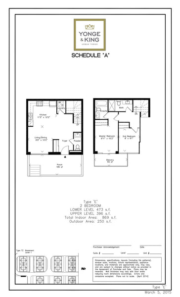 201 King Road: 2 Bedrooms - Type E, Unit 101