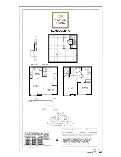 201 King Road: 2 Bedrooms - Type B, Unit 230