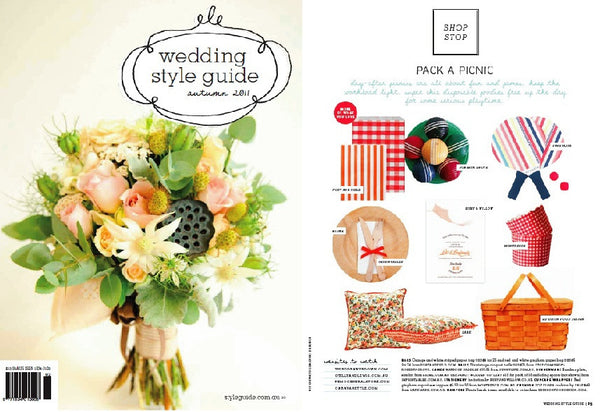 fort & field Wedding Style Guide press inclusion Autumn 2011