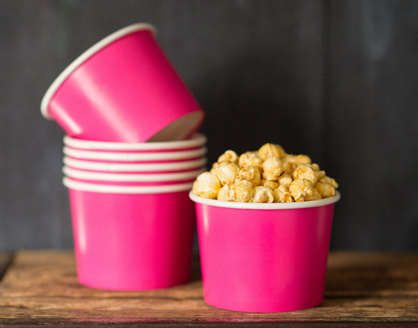 12 solid paper ice cream cups