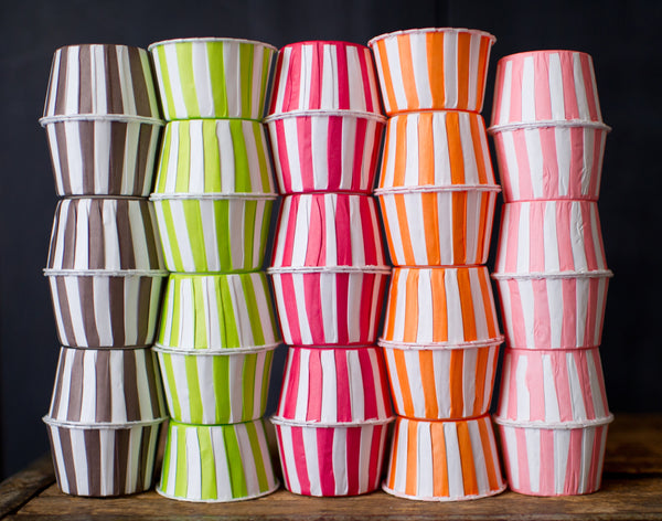 rainbow striped nut cups or cupcake liners party supplies