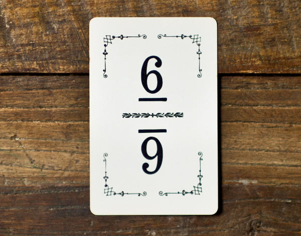 vintage table numbers for parties and weddings