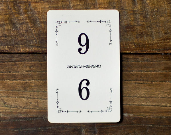 vintage table numbers