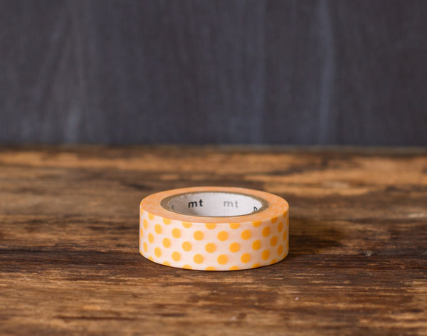 orange and white polka dot patterned masking tape rolls from MT Brand