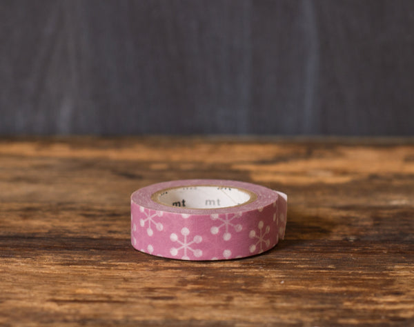 purple and white atom print MT Brand Japanese washi tape roll