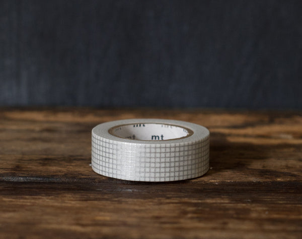 silver graph paper print MT Brand Japanese washi tape roll
