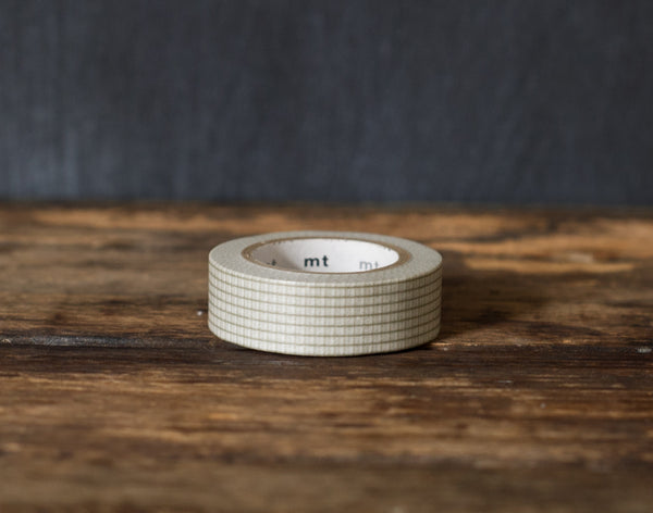 grey graph paper print MT Brand Japanese washi tape roll