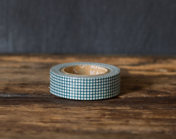 teal graph paper print MT Brand Japanese washi tape roll