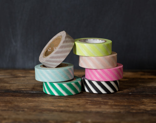 wide airmail stripe masking tape rolls