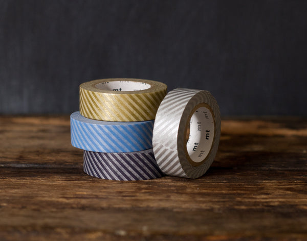 thin stripe airmail patterned masking tape rolls