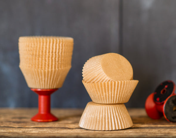 unbleached tan kraft paper eco cupcake liners