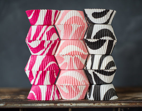 zebra animal print paper cupcake liners for party supplies