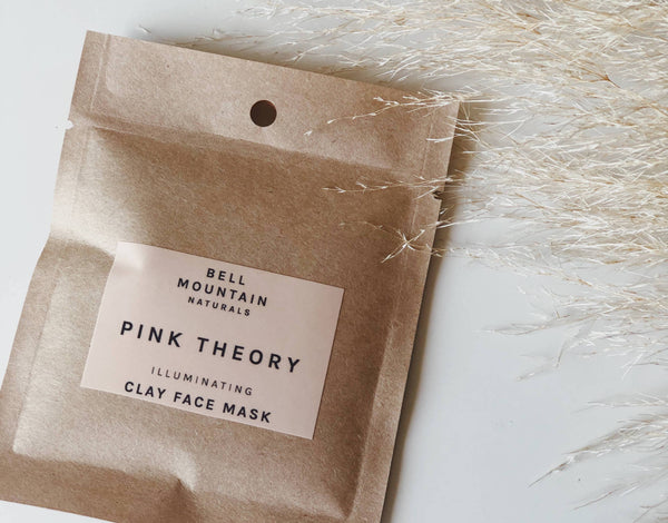 pink theory illuminating clay mask