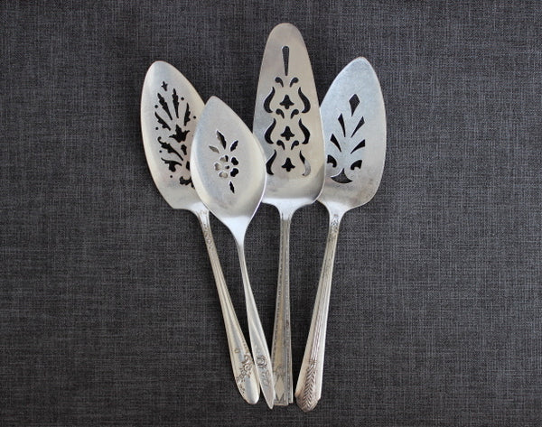 antique silver pie/cake servers