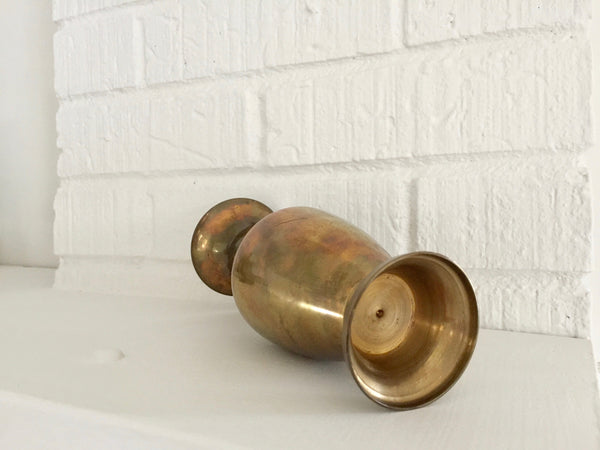 tapered brass vintage vase
