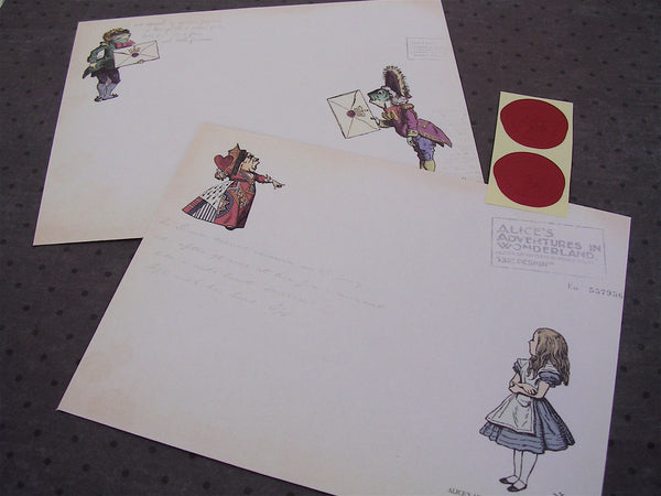 Alice in Wonderland stationery set