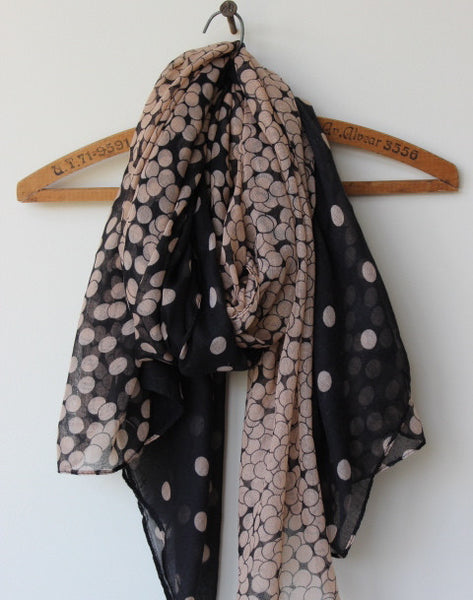 ombre dot print lightweight fashion scarf