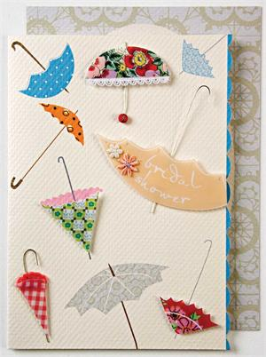 umbrella bridal shower card and envelope
