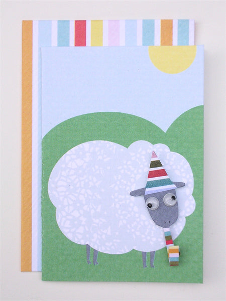 sheep enclosure card and envelope