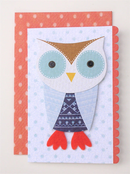 owl enclosure card and envelope