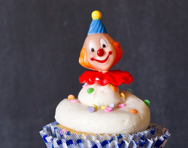 clown cupcake toppers