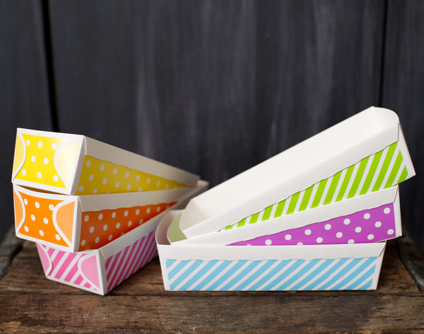 patterned paper disposable loaf baking pans - large