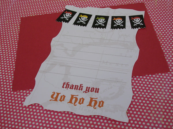 pirate party invitation and thank you set
