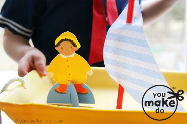 sail away paper play kit