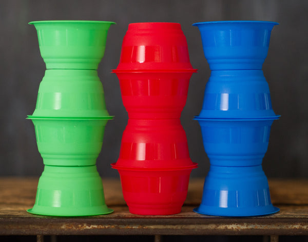 12 solid plastic ice cream cups