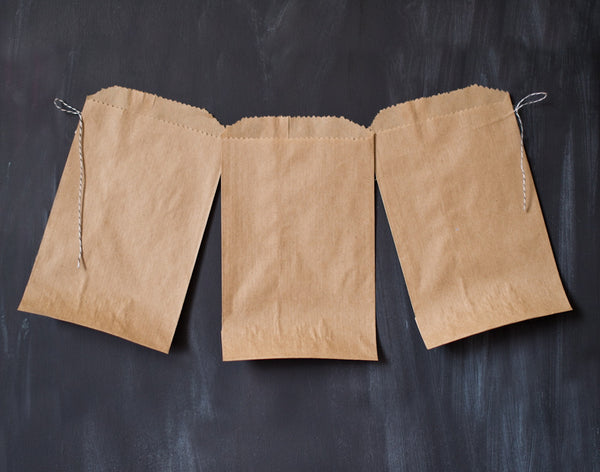 24 brown kraft paper bags
