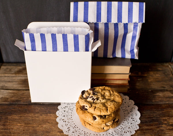 4 individual cardboard cookie boxes