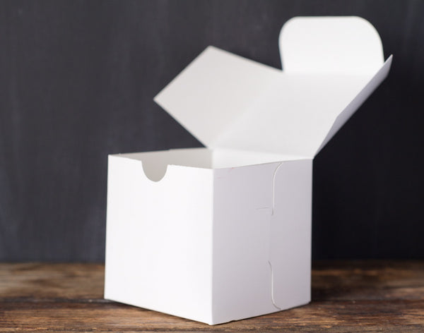 4 square 4X4 individual cupcake bakery boxes