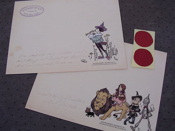 Wizard of Oz stationery set