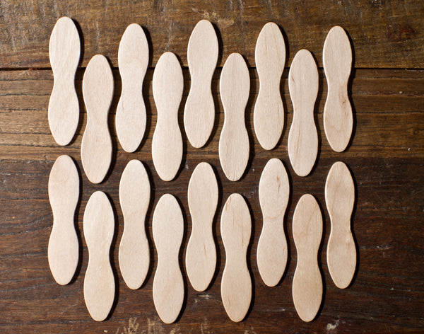 36 pieces eco wooden bowtie taster spoons