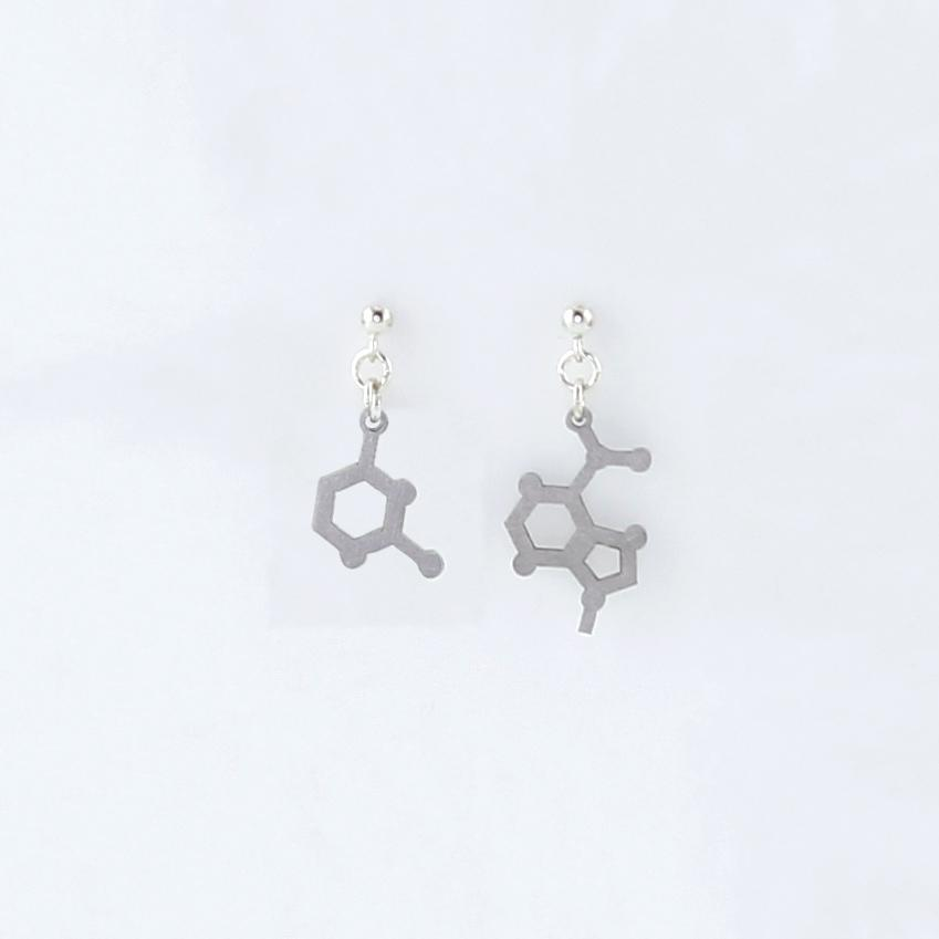 Adenine and Uracil Molecule Studs in Stainless Steel