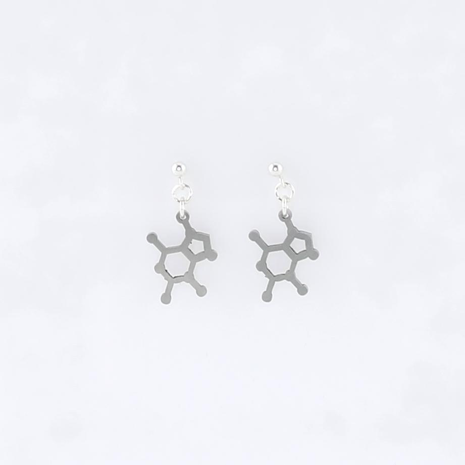 Chocolate Molecule Studs in Stainless Steel