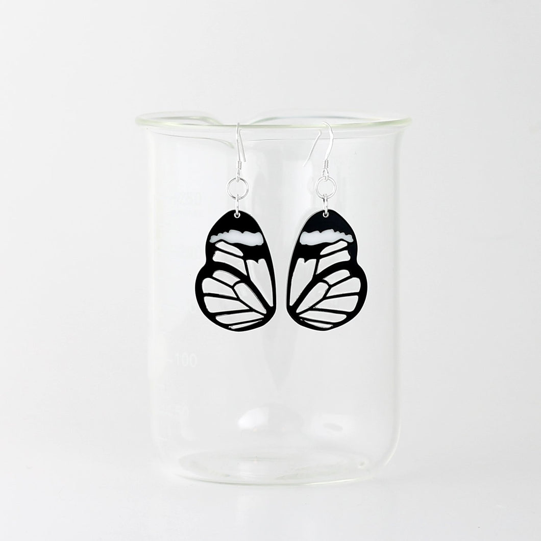 Glasswing Butterfly Earrings in Acrylic