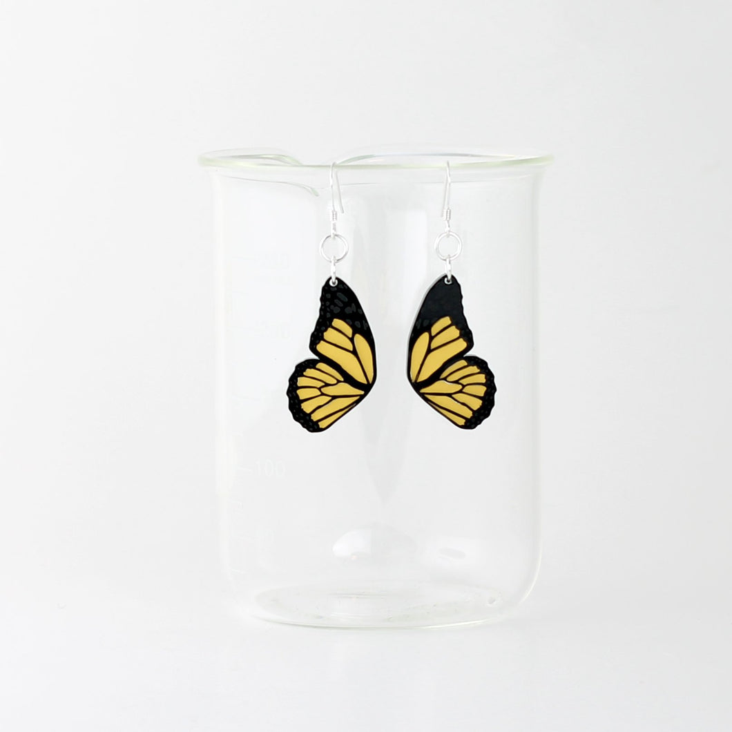 Monarch Butterfly Earrings in Acrylic