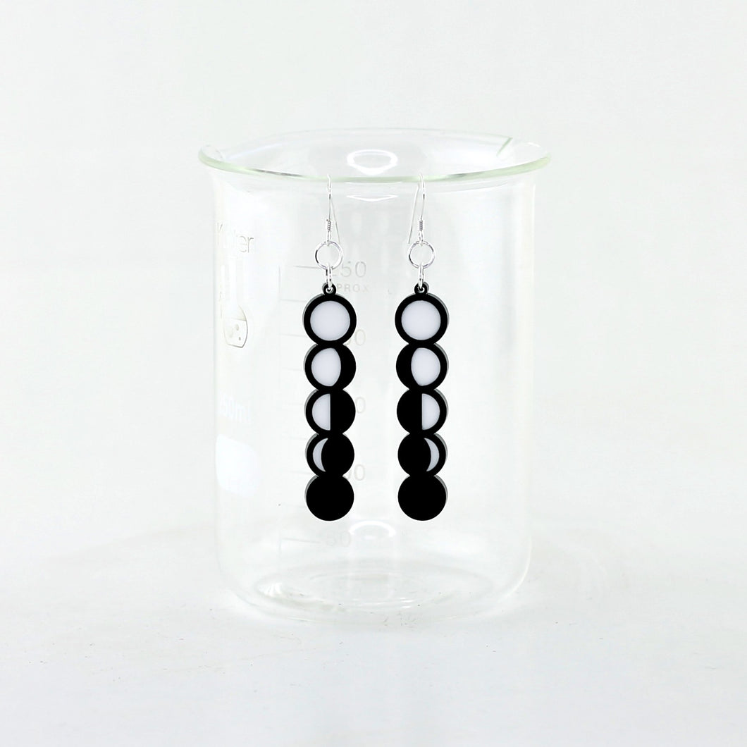 Phases of the Moon Earrings in Acrylic