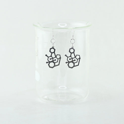Tetrodotoxin Poison Molecule Earrings in Stainless Steel