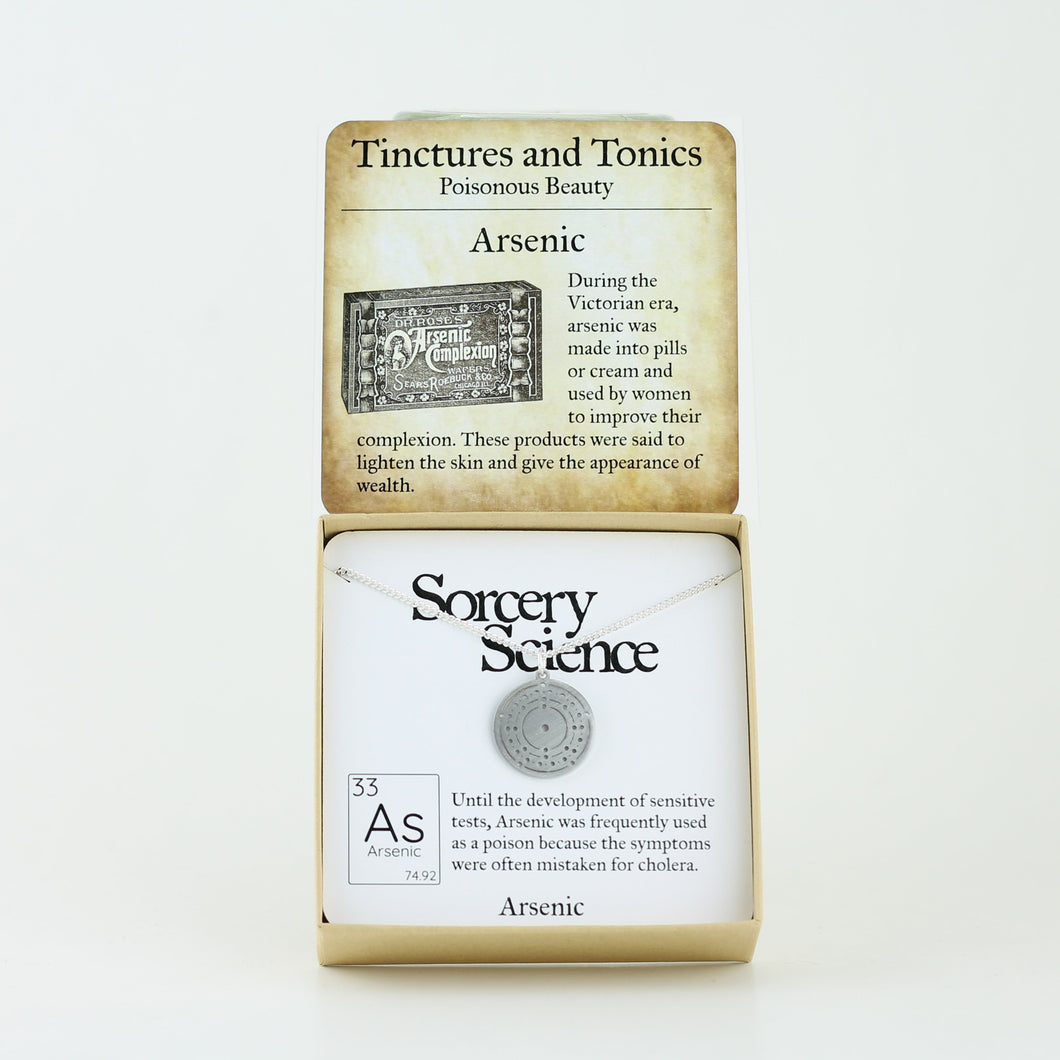 Tinctures and Tonics: Arsenic with Arsenic Bohr Model Atom Necklace in Stainless Steel