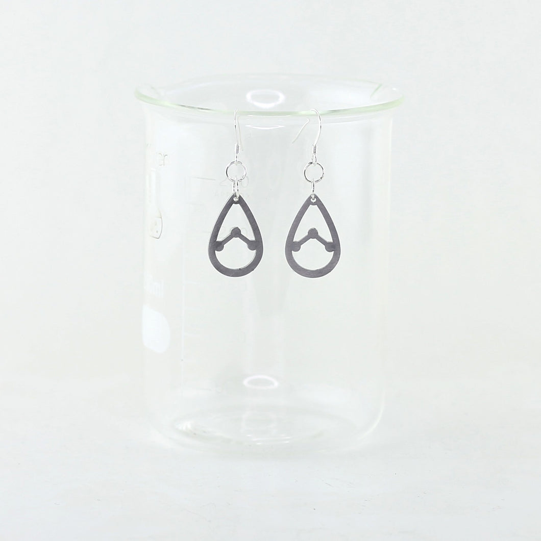 Water Molecule Open Design Earrings in Stainless Steel