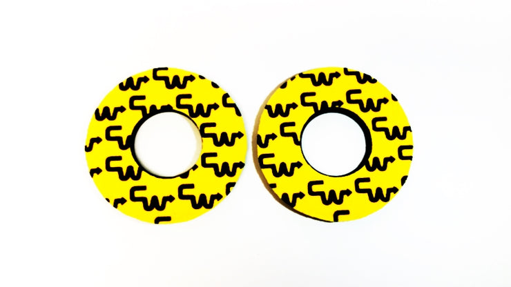 Yellow Black CW Racing Grip Donuts