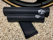 black Flite bmx pad set with black tuff wheel