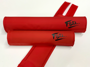 red black Flite logo old school bmx pads