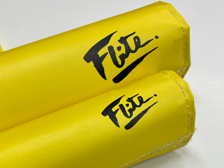 Flite old school yellow BMX PADS