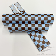 Classic Checkers Light Blue and Brown BMX Pad Set