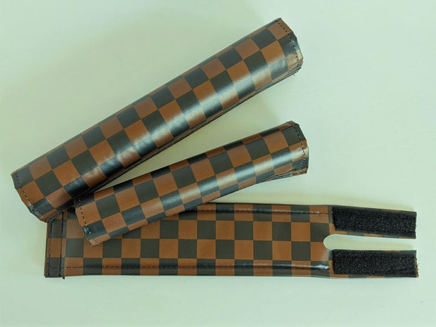 Classic checkers Brown and Black Wide BMX Padset