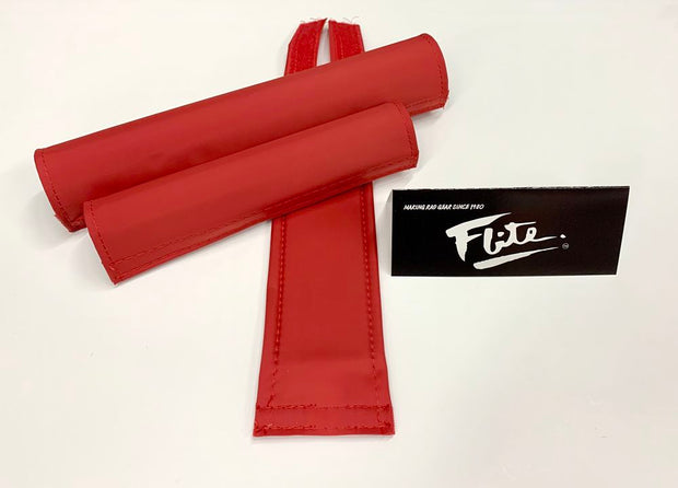 Red Blank BMX Padset by Flite