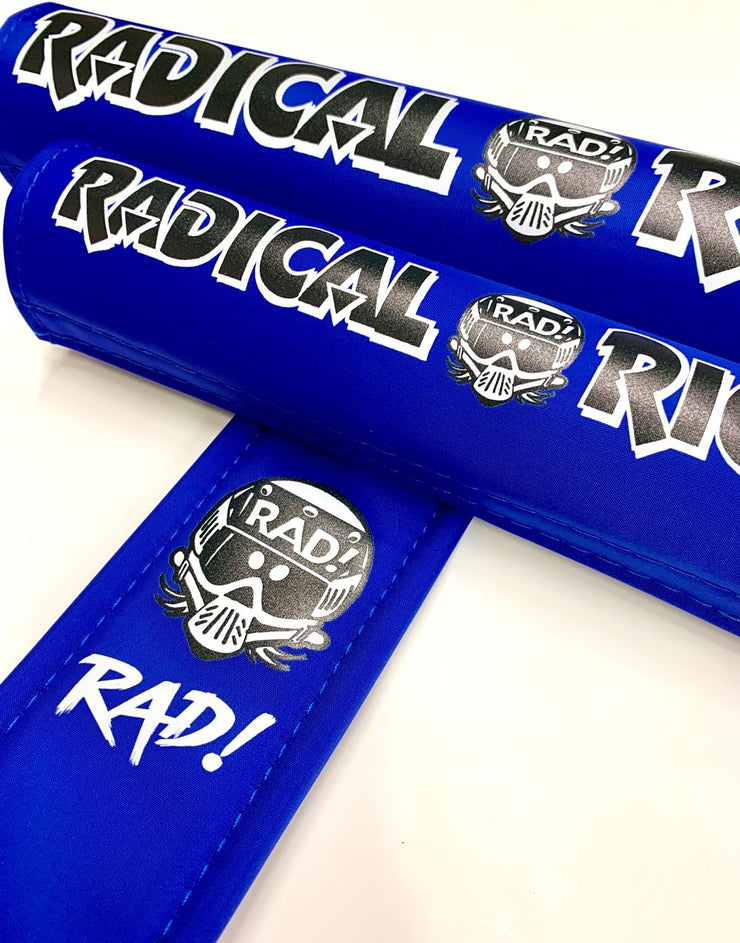 blue radical rick nylon bmx pad set
